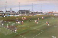 Kidderminster Harriers v West Ham FA Cup 1994 - 20'' x 30'' Box Canvas